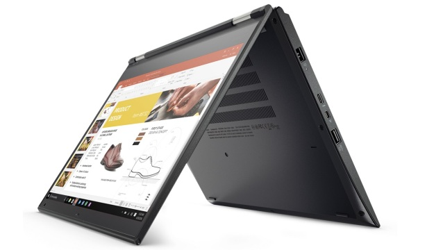 modele de portable 2 en 1 ThinkPad Yoga 370 qui cible le grand public