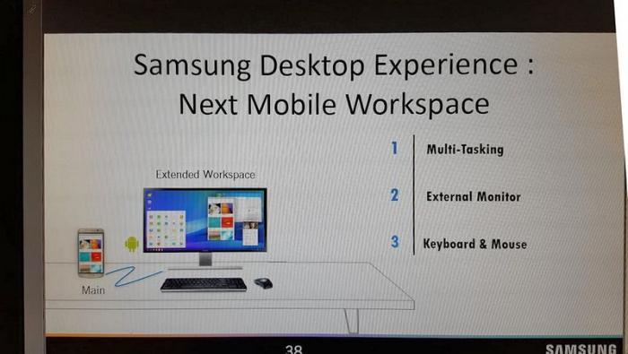 fonctionnement de Samsung Desktop Experience sur le Galaxy S8