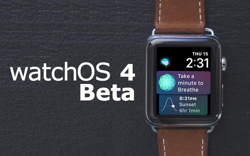 WatchOS 4 Apple Watch Series 3 4G